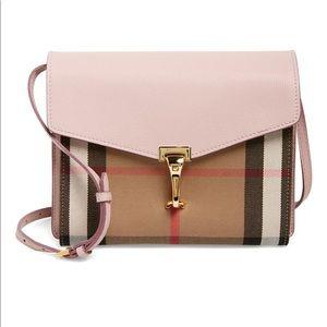 Burberry Small Macken' Check Crossbody Bag